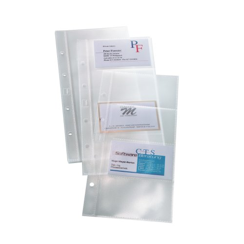 Sigel VZ350 Pockets for Business Card Organisers one row (10pcs.)