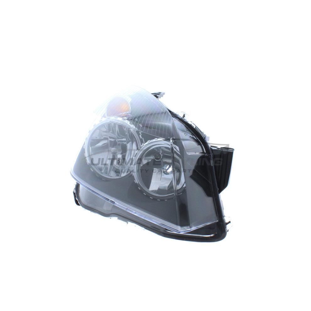 Vauxhall Astra H Mk5 Estate 2004-6//2007 Black Headlight Lamp Drivers Side O//S