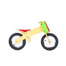 DipDap Luxury Wood Balance Bike Red