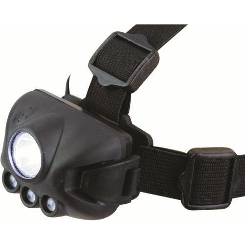 Water Resistant Night Ops Headlamp - Highlander Black LED Torch -  night ops highlander headlamp black led torch