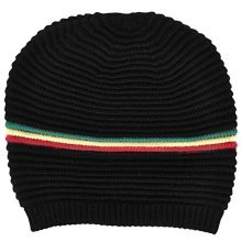 6astd Hot Colour Stripes Beanie Hat W/hanger And H/tag -