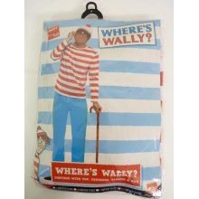 Extra Large Adult's Where's Wally Costume -  wheres wally costume fancy dress mens outfit book new adult day week