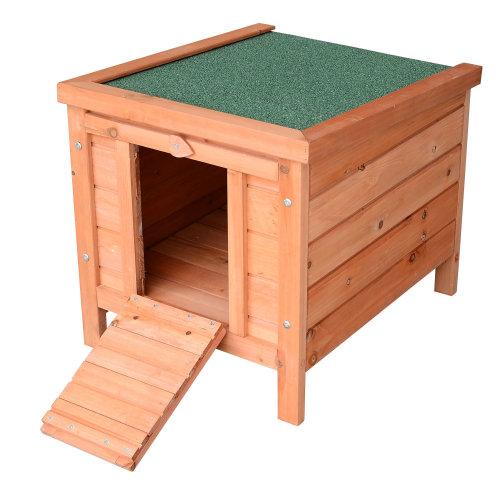 "PawHut 20"" Wooden Rabbit Hutch Bunny Cage Guinea Pig House Pet Habitat Small Animals Ferret"