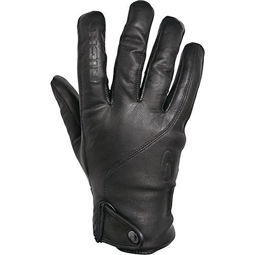 Richa Brooklyn Black Waterpoof Leather Touring Cruiser Motorcycle Gloves