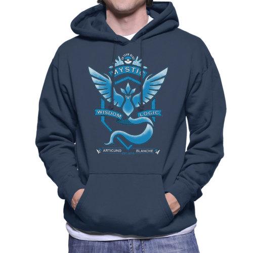 Pokemon Go Team Mystic Crest Men's Hooded Sweatshirt