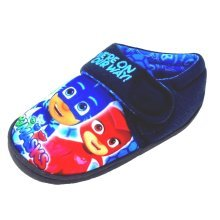 P J Masks Navy Blue Slippers with Touch Fastening