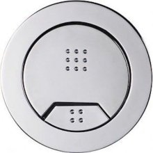 Tavistock Vortex Dual Flush Air Push Button Cistern Toilet Pneumatic Chrome