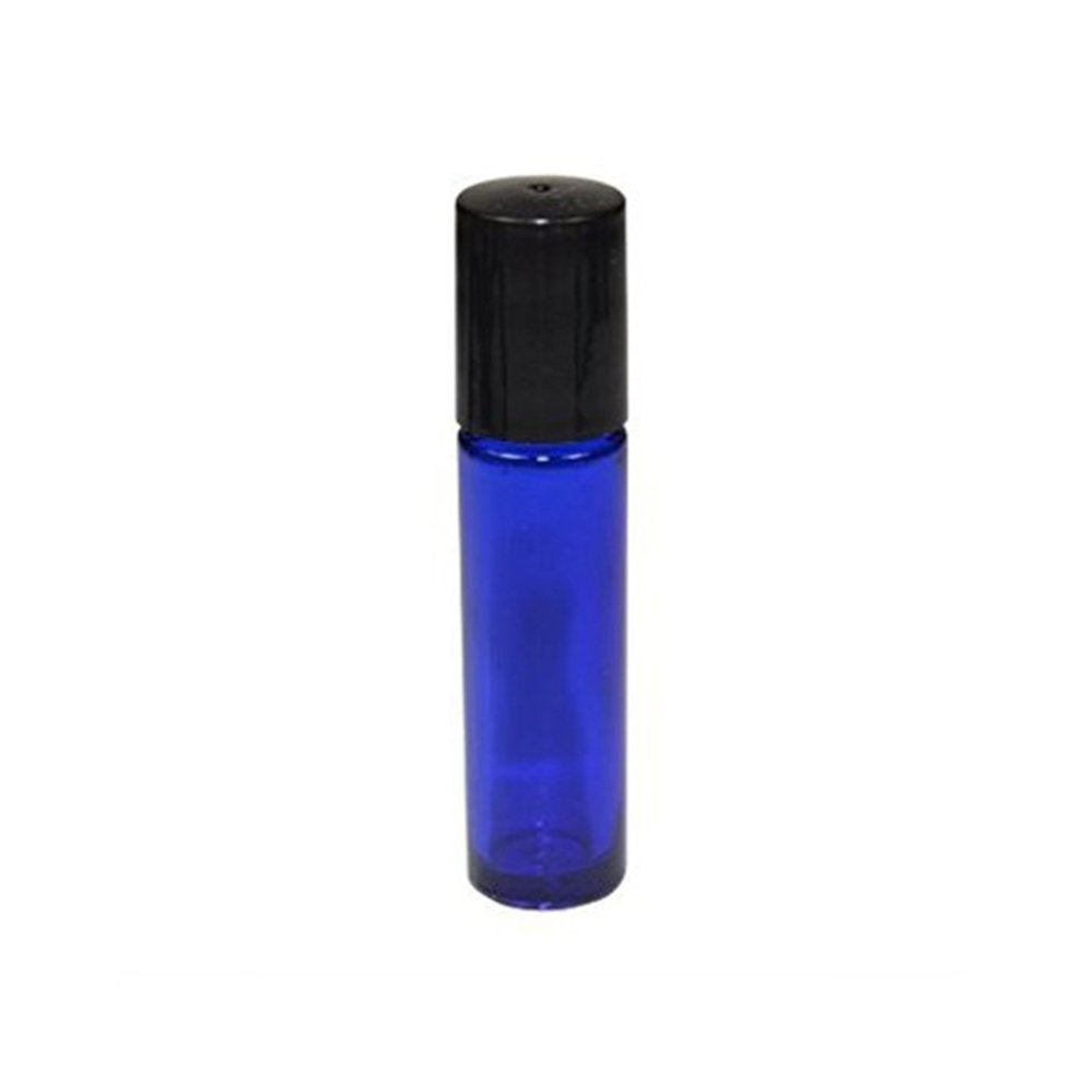 7d8d44bc2c10 HugeStore 10 Pcs 10ml Refillable Blue Glass Rollerball Bottles Empty  Essential Oil Glass Roller Bottles for Aromatherapy
