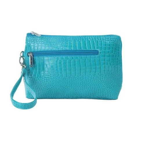 Picnic Gift 7322-BT French 75-Daily Essentials Cosmetics Bags with Removable Wristlet, Blue
