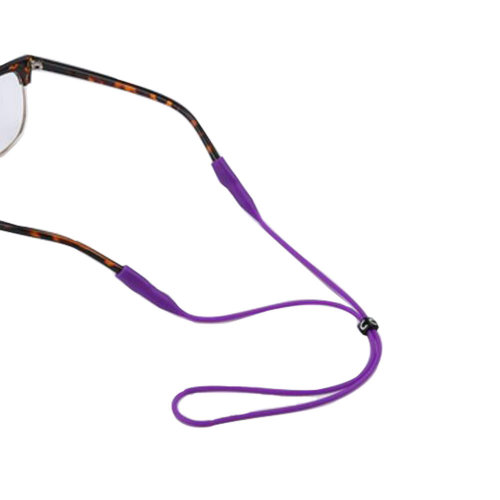 "Silica Gel Eyeglass Strap Non-slip For Children  17.32""-Purple"