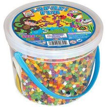 6000 Piece Safari Fun Bead Bucket - Perler Prl42821 Beadspc Fused Kit -  perler bead bucket fun prl42821 beads 6000 pc safari fused kitsafari