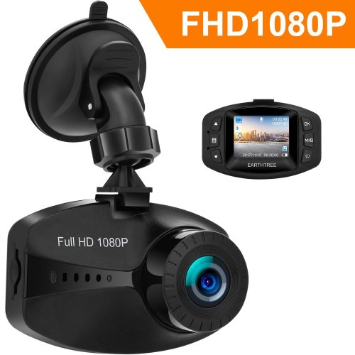 Earthtree In Car Dash Cam FHD 1080P Mini Car Dashboard Camera