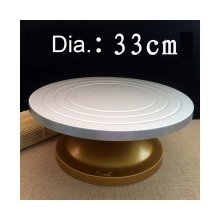 Making Cream Cake Turntable Rotation Round Steel Decorating Rack 33CM