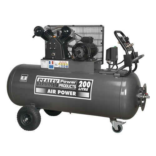 Sealey SAC3203B3PH Compressor 200ltr Belt Drive 3hp with Control Panel 415V-3ph