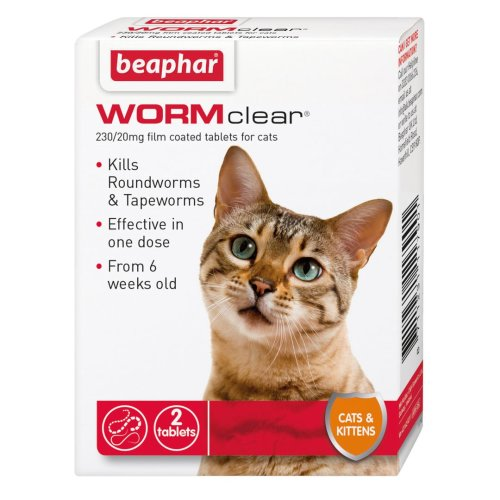 Beaphar Wormclear Cat 2 Tablets (Pack of 6)