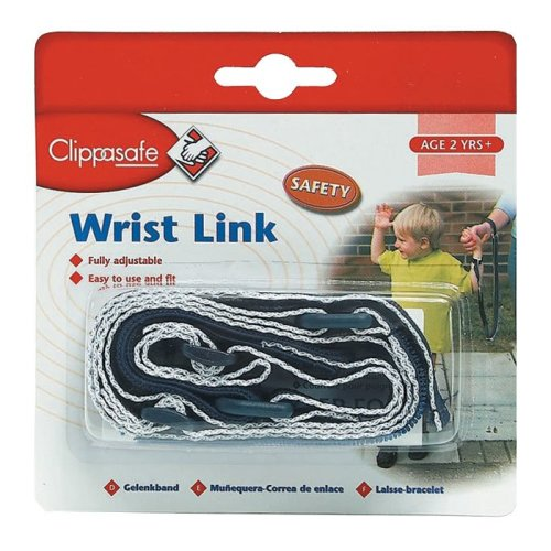 Clippasafe Wrist Link with Shock Absorber (navy/white)