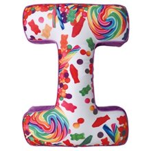 "iscream Luscious Letters! I Initial 16"" x 11.5"" Photoreal Fleece-Backed Microbead Pillow"