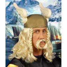 Adult's Blonde Viking Wig & Moustache