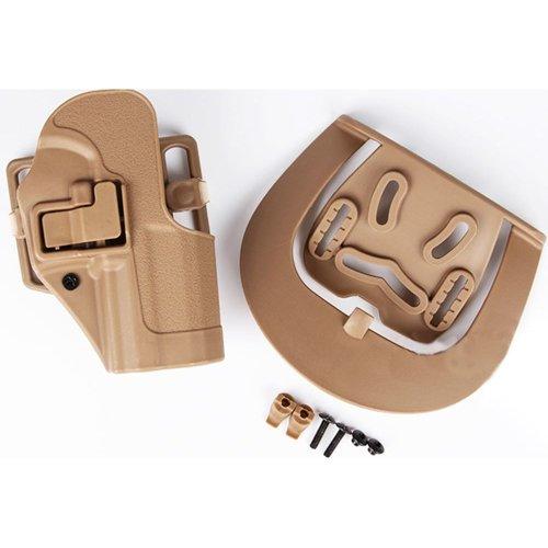 Airsoft G Op Cqc Serpa Pistol Belt Hard Holster For G17 G18 G22 Tan Sand Uk