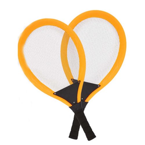 Orange Tennis Bouncy Ball Set Racket Badminton Racket Tennis Racket Ball Toys