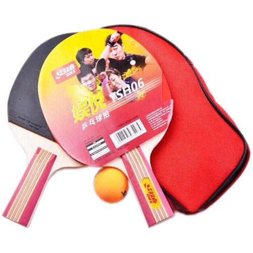 Table Tennis Racquets DHS Table Tennis Paddles 2 Rackets, 1 Ball,1 Case