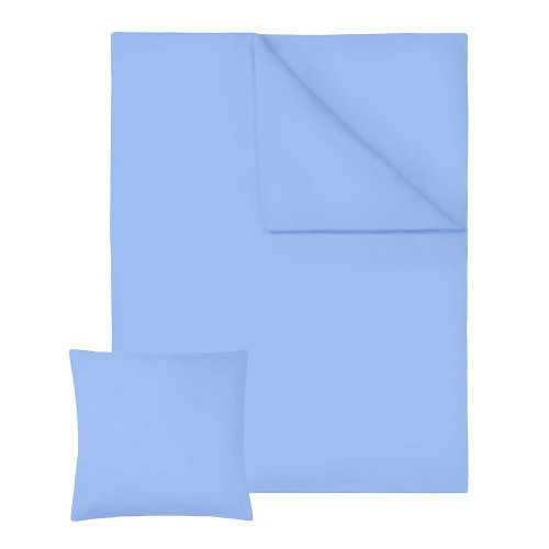 2 bedding sets 200x135cm cotton 2-piece blue