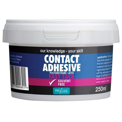 Polyvine ACA250 Contact Adhesive Solvent Free Fast Tack 250ml