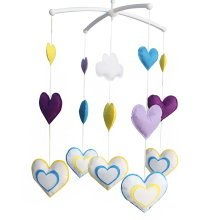 [Hanging Hearts Decor] Cute Decor Hanging Toys, Musical Mobile