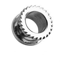 Surgical Steel Mechanical Saw Blade Hollow Screw Fit Ear Tunnel Saddle Plug Piercing Finest Quality Materials