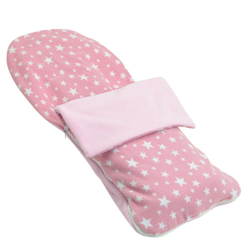 Snuggle Summer Footmuff Compatible With Chicco Stroller Buggy Pram - Light Pink Star