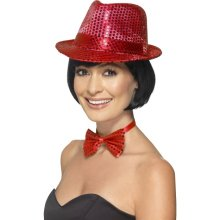 27979fd4d72 Smiffy s Unisex Sequin Trilby Hat (red) - hat sequin trilby fancy dress  smiffys ladies 1920s adult accessory red