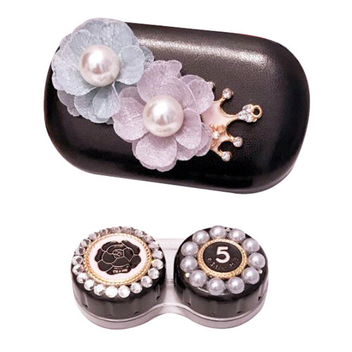 Leather Contact Lens Case Eye Care Kit  Holder Personality Gift #04