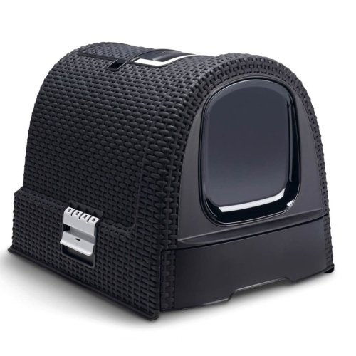 Curver Hooded Cat Litter Box 51x38.5x39.5 cm Anthracite 400460