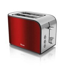Swan 2 Slice Red Toaster with Browning Control - Red (Model No. ST17020REDN)