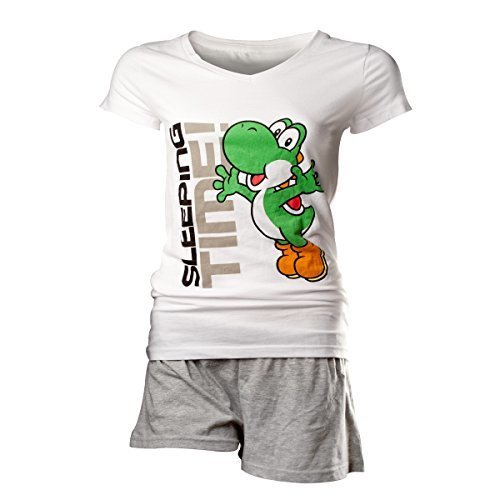 Flashpoint AG Super Mario Yoshi Sleeping Time Pyjamas white-grey S (New)