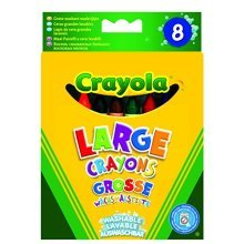 Crayola Kids 8 Count Large Washable Crayons