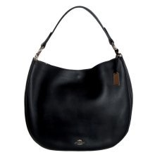 COACH Nomad Hobo in Glovetanned Leather Handbag - Black - 36026-LIBLK