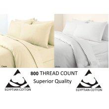 Egyptian Cotton 800 Thread Flat Bed Sheet Bed Linen