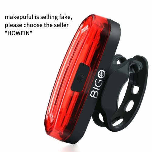 Rear Bike Lights USB Rechargeable LED BIGO Bike Tail Light Waterproof IPX6 Powerful 120 Lumens Easy Install on Bicycles, Helmets Safety Taillight...