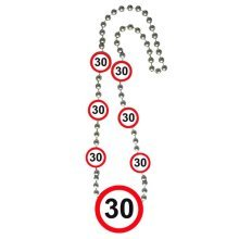 Traffic Sign 30th Necklace