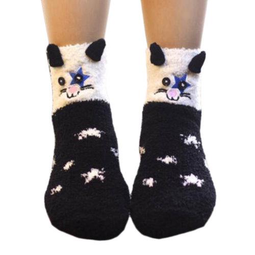 A Pair Soft Cute Sleeping Socks Slipper Socks Floor Socks Warm Socks-A13