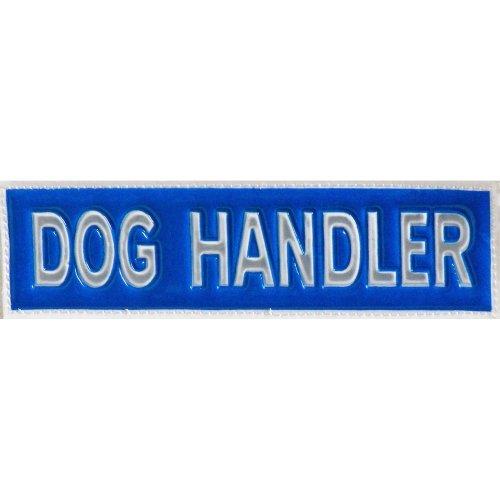 Reflective DOG HANDLER Patch -Blue-14 x 4cm