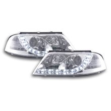 Daylight headlight VW Passat type 3BG Year 00-05 chrome RHD