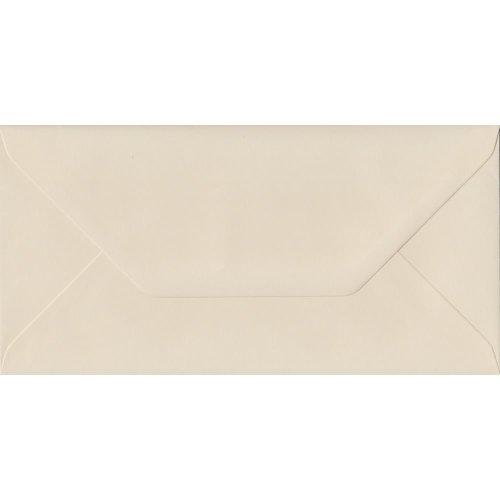 Ivory Gummed DL Coloured Ivory Envelopes. 130gsm FSC Sustainable Paper. 110mm x 220mm. Banker Style Envelope.
