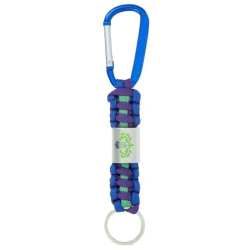 Thistle Paracord Keyring Scotland Scottish Souvenir Gift Cord & Metal Key Ring