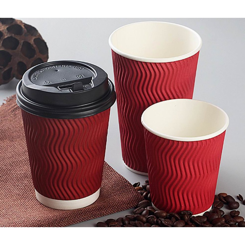 78e1f2f9def ... Set Of 50 Disposable Coffee Cups With Lids Disposable Paper Cup Red -  1. >