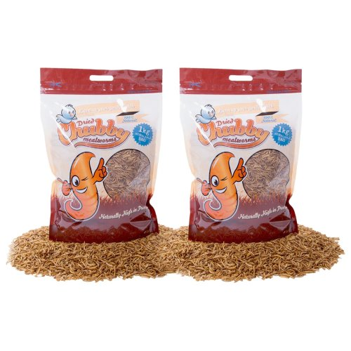 Chubby Mealworms Dried Mealworms, 2 kg