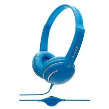 Groov-e Kids DJ Style Streetz Headphones with Volume Control - Blue (GV897/BE)