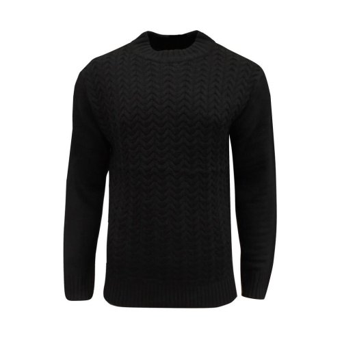 Soul Star Men's Tugger Turtle Neck Cable Knit Jumper