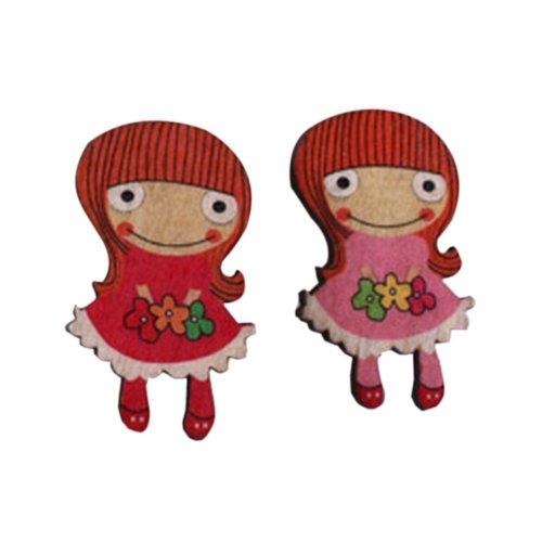 Creative Office Item/Lovely Flower Girl Series Pushpins/20 Piece/Random Style